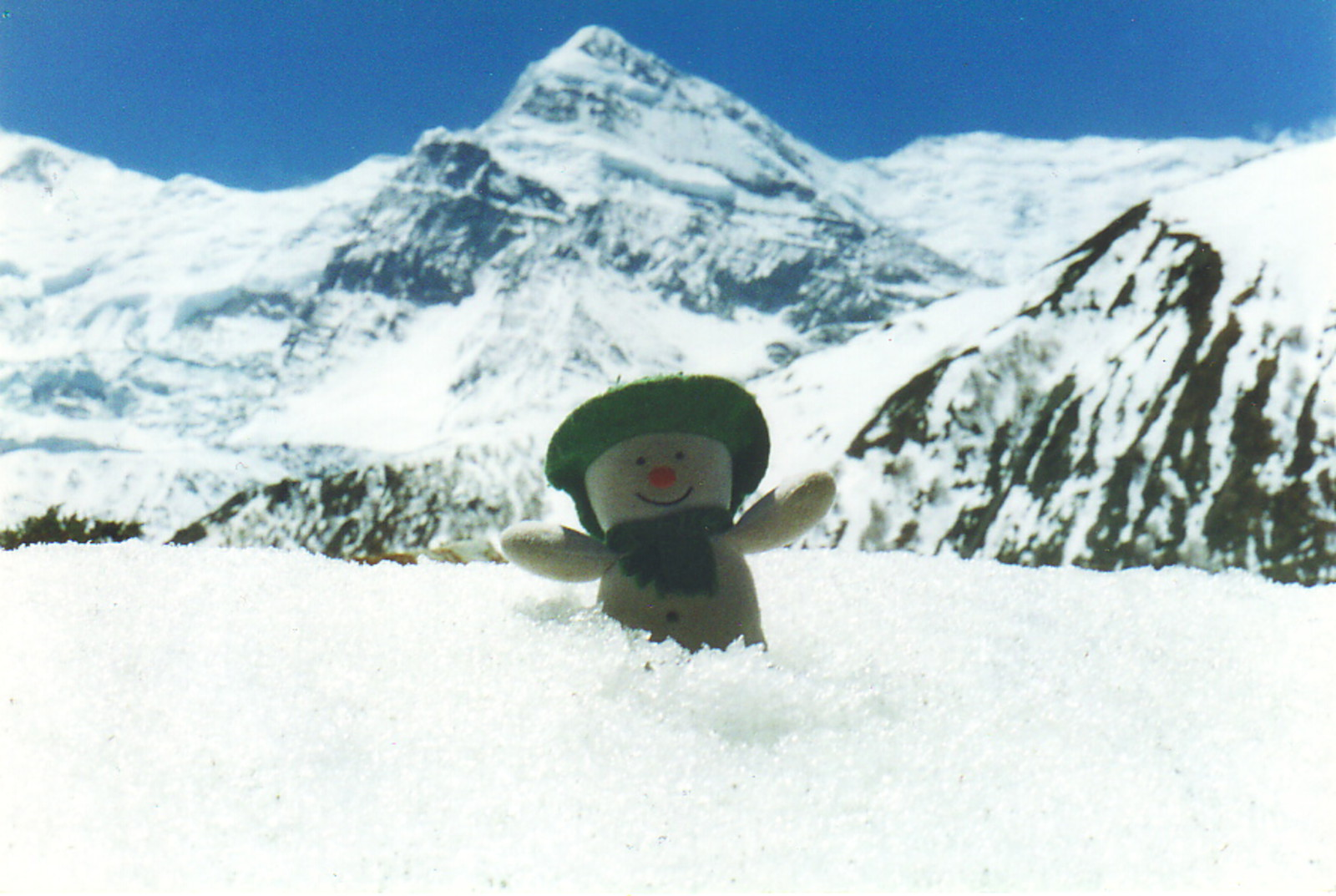 A snowman in the Himalayas