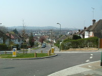 Looking down Barn Hill towards Harrow (though not from the Ring, as I took a wrong turning)
