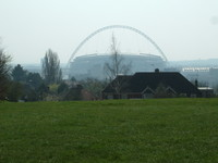 Wembley Stadium from the top of Barn Hill