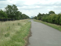 The Greenway with Barking Creek Flood Barrier in the distance