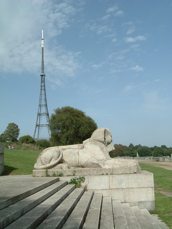 A sphinx on Crystal Palace terrace