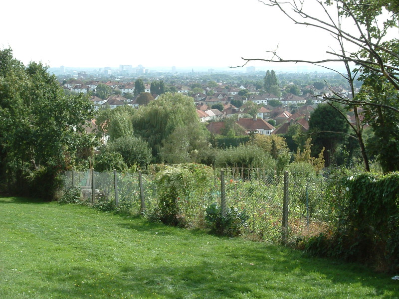 The view over Croydon from Biggin Hill