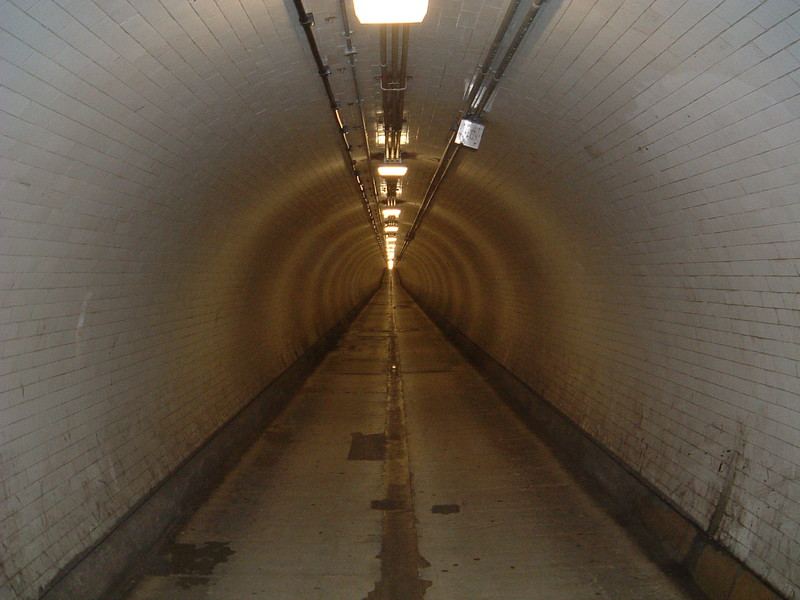 Inside the Woolwich foot tunnel