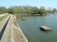 The dam on Aldenham Reservoir