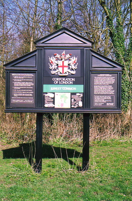 The Corporation of London sign for Kenley Common