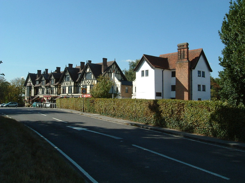 The Royal Forest Hotel (left) and Queen Elizabeth's Hunting Lodge (right)