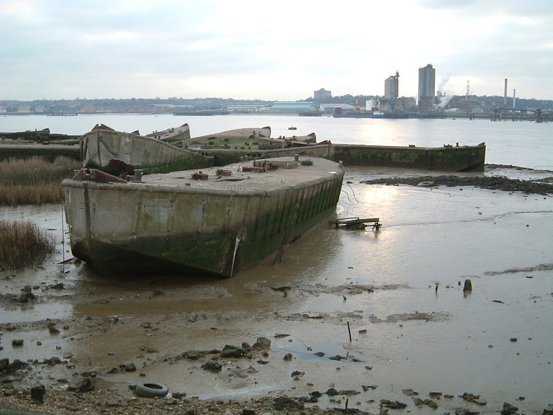 Concrete barges of D-Day scuppered in the Thames